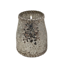 15OZ CANDLE ON CHAMP. CRACKLE GLASS by Live & Skye