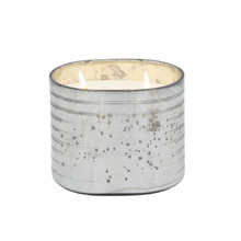 40OZ CANDLE ON GRAY STRIPED GLASS by Liv & Skye