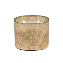 40OZ CANDLE ON CHAMP. STRIPED GLASS by Liv & Skye