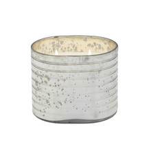 40OZ CANDLE ON SILVER STRIPED GLASS by Liv & Skye