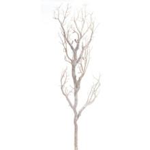 "CASE OF 12 MANZANITA GLITTER TREE BRANCH 47""- WHITE - 0436WH"