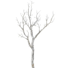 "CASE OF 12 MANZANITA GLITTER TREE BRANCH 30""- SILVER - 0421SV"