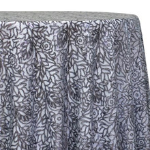 Fiori Leaf Sequins Table Linen in Grey