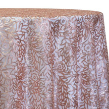 Fiori Leaf Sequins Table Linen in Blush
