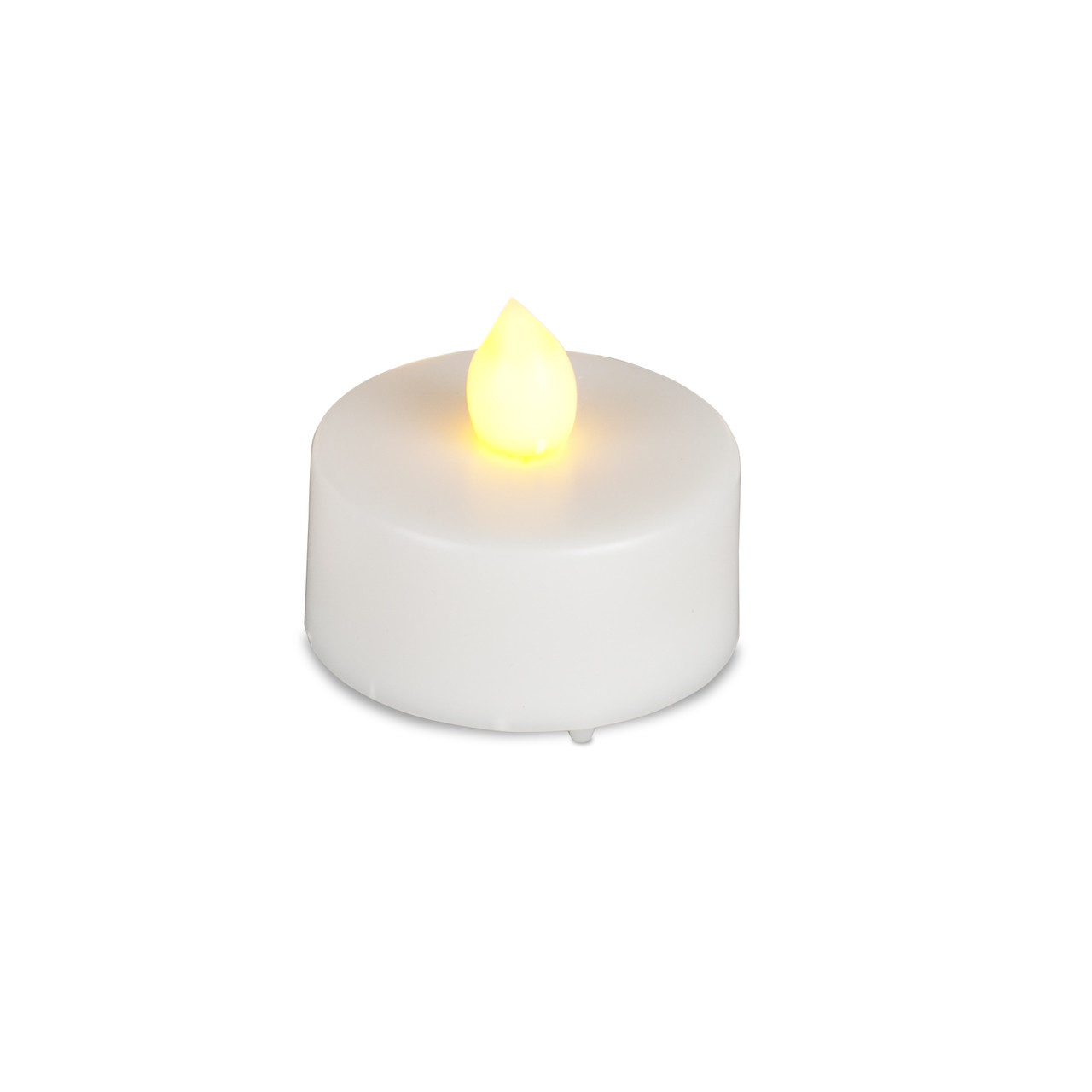 144 White Battery Operated Led Tea Lights With Flicker
