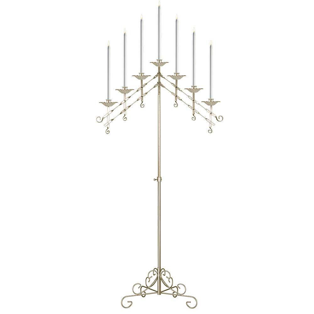 7-Light Adjustable Floor Candelabra - Events Wholesale