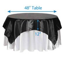 "72"" Square Satin Tablecloths"