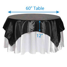 "84"" Square Satin Tablecloths"