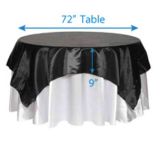 "90"" Square Satin Tablecloths"
