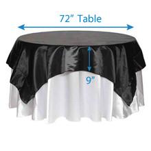 "90"" Square Satin Tablecloths"