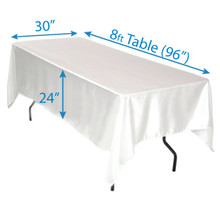 """72"""" x 144"""" Satin Tablecloths"""