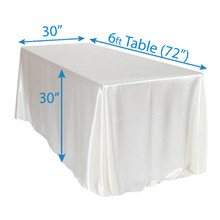 "90"" x 132"" Satin Tablecloths"