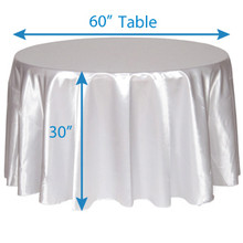"120"" Round Satin Tablecloths"