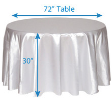 "132"" Round Satin Tablecloths"