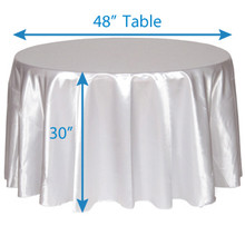 "108"" Round Satin Tablecloths"