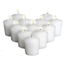 144 White Votive Candles - 15 hr
