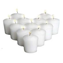 144 White Votive Candles - 15 hr