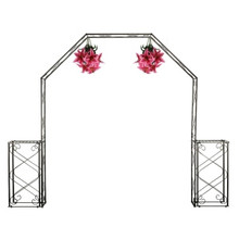 "Convertible Wedding Arch with Two Columns - 96"" H"