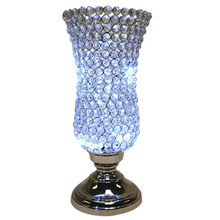 "16"" Crystal Candle Holder in Nickel"