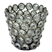 Crystal Tealight Holder in Nickel