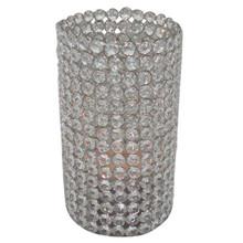 "9.5"" Crystal Cylinder in Nickel"