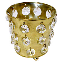 Gold Tealight Holders with Crystals - Case of 6