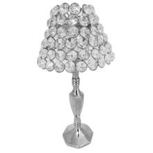 Crystal Table Lamp in Nickel