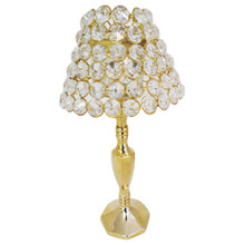 Crystal Table Lamp in Gold