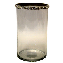 "8.5"" Votive Holder with Jewel Crystals"