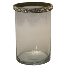 "6"" Votive Holders with Jewel Crystals - Set of 2"