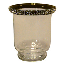 "4.5"" Votive Holder with Jewel Crystals"
