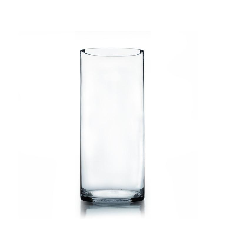 7 Quot X 16 Quot Cylinder Glass Vase 4 Pieces Eventswholesale Com