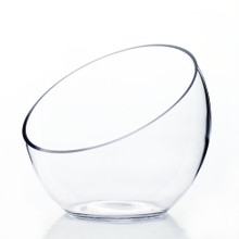 "7"" x 6"" x 3"" Slant Bowl Glass Vase - 8 Pieces"