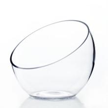 """7"""" x 6"""" x 3"""" Slant Bowl Glass Vase - 8 Pieces"""