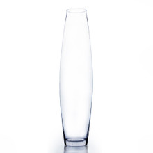 "4"" x 24"" Urn Bullet Glass Vase - 4 Pieces"