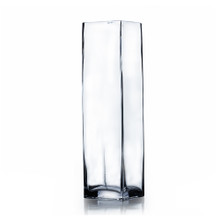 "3"" x 12"" Block Glass Vase - 12 Pieces"