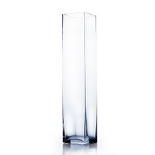 "4"" x 18"" Block Glass Vase - 6 Pieces"