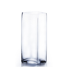 "6"" x 12"" Block Glass Vase - 6 Pieces"