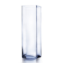 "6"" x 20"" Block Glass Vase - 4 Pieces"