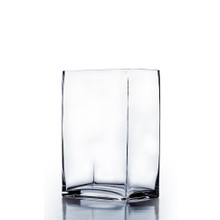 "6"" x 4"" x 12"" Block Rectangle Glass Vase - 6 Pieces"