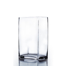 "6"" x 4"" x 14"" Block Rectangle Glass Vase - 6 Pieces"