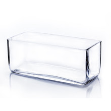 "10"" x 4"" x 4"" Block Rectangle Glass Vase - 12 Pieces"