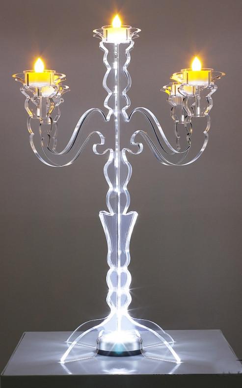 Illuminate Glow Tabletop Candelabra Events Wholesale