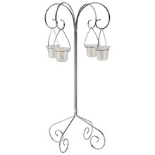 """30"""" Tall Tabletop Candelabra - Willow in Frosted Silver"""