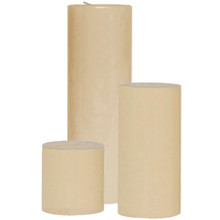 12 Sets of 3 Ivory Pillar Candles