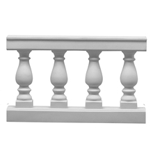 Balustrade with Four Balusters - 30 Inches Tall x 48 Inches Wide