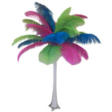 """Tropical"" Ostrich Feather Centerpiece"
