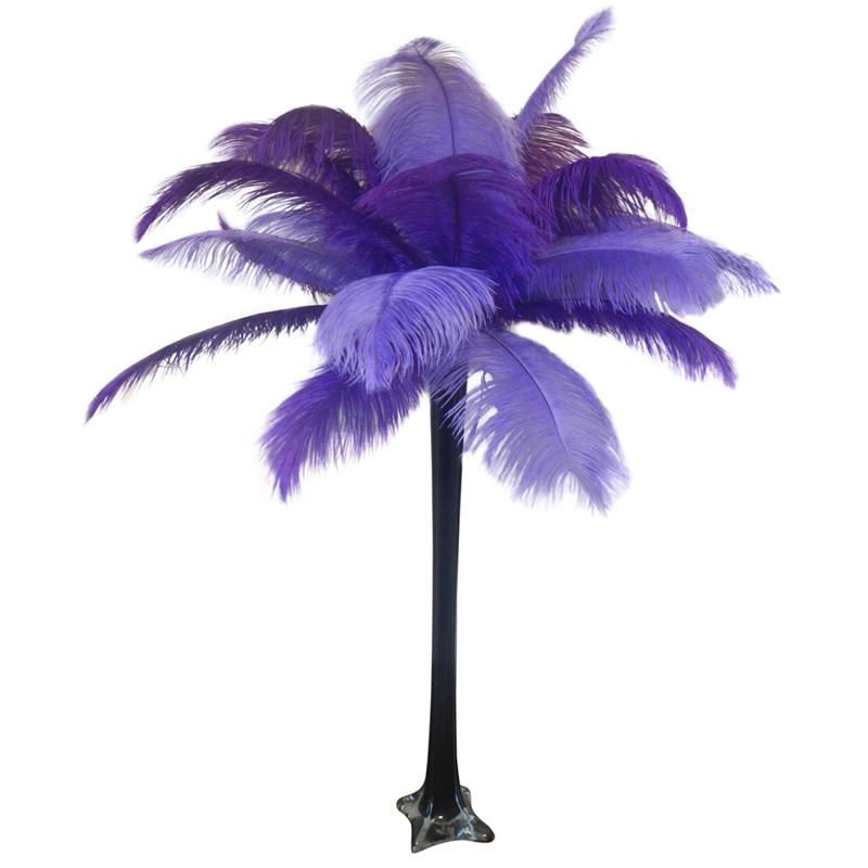 Quot Purple Quot Ostrich Feather Centerpiece Events Wholesale