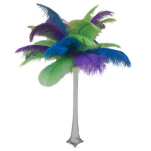 """Tropical Blue"" Ostrich Feather Centerpiece"