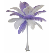 """Lavender"" Ostrich Feather Centerpiece"